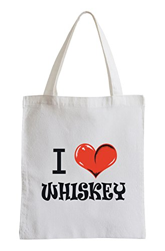 I Love Whisky Fun Jutebeutel