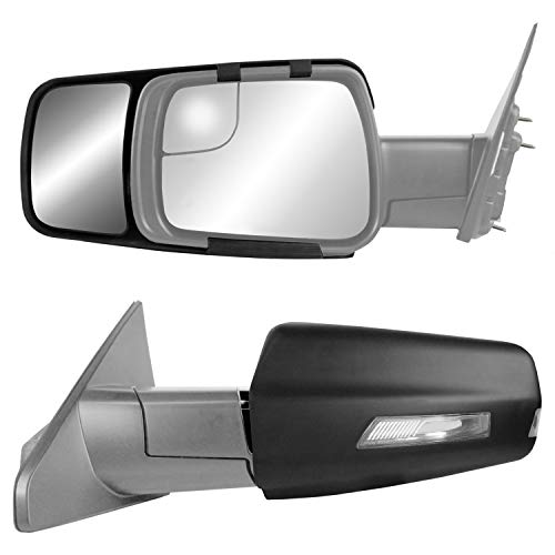 K Source 80730 Snap & Zap Custom Fit Towing Mirror for Dodge Ram 1500 Non-Classic Models (2019+),...