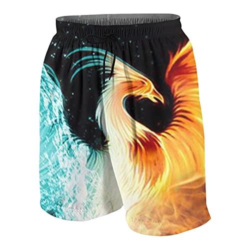 FDGJNB Bañador para hombre, impermeable, ligero, repelente de ropa de playa con cordón elástico para vacaciones