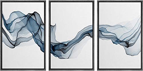 SIGNWIN 3 Piece Framed Canvas Wall Art Watercolor Painting Canvas Prints Home Artwork Decoration for Living Room,Bedroom - 24'x36'x3 Panels