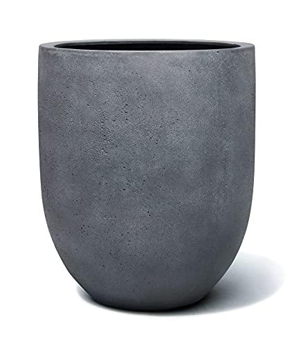 VAPLANTO® Pflanzkübel Tall Egg Pot 40 Blei Grau Rund * 40 x 40 x 47 cm * 10 Jahre Garantie