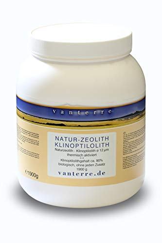- v a n t e r r e - 1900g Premium Natur-Zeolith-Klinoptilolith Pulver 12 µm Wide Range Vermahlung, Tribomechanisch mikronisiert