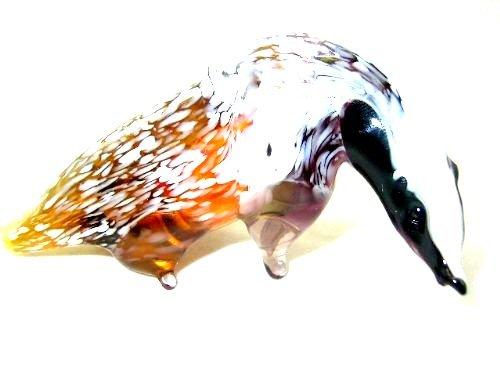 Daks - figuur van glas - glazen figuur glazen dier bruin deco zetkast vitrine- B8-13-7
