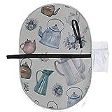 Baby Portable Pad Wasserdichtes faltbares Muster Vintage Kessel Teekannen Blumensträuße Windelmatte Reisematte Bequemes Aufhängen