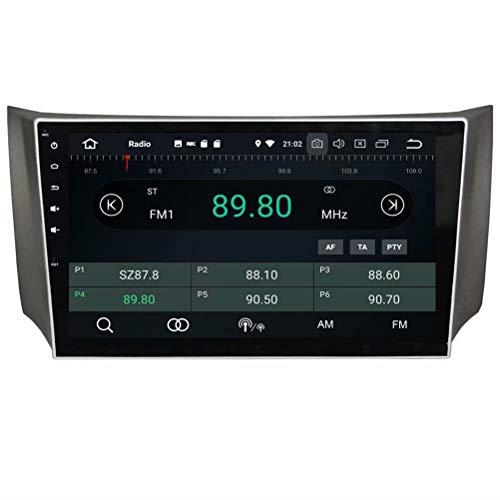 ROADYAKO Android 8.1 Quad Core pour Nissan Sylphy 2012 2013 2014 2015 Autoradio stéréo avec Navigation GPS 3G Lien Lien Miroir RDS FM AM Bluetooth AUX Multimédia Audio Vidéo
