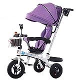 Cochecito de bebé Exclusivo para niños de 1-6 años Bicicleta de Triciclo para niños | Reposabrazos Ajustable | Embrague | Arnés de Seguridad | Frenos | Portavasos