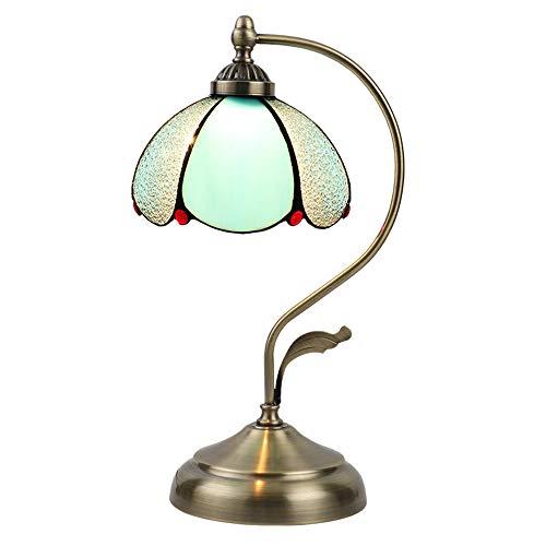 CFYBAO Blume Tiffany Tischlampe kreative Buntglas-Lampe Wohnzimmer-Dekoration schmiedeeiserne Tischlicht 20 * 48CM