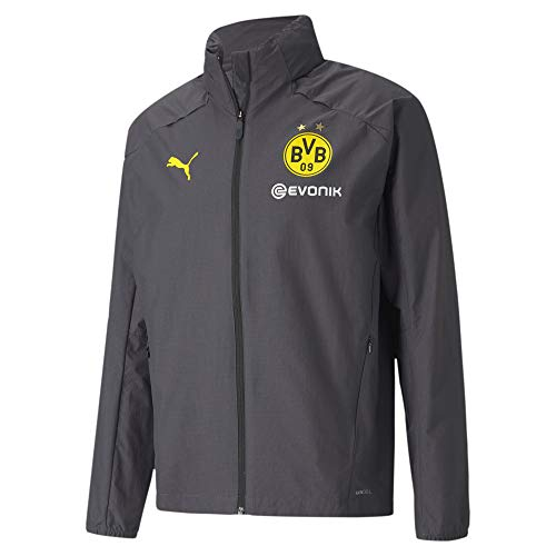 PUMA Borussia Dortmund Training Regenjacke Jacke (XXL, Asphalt/Yellow)