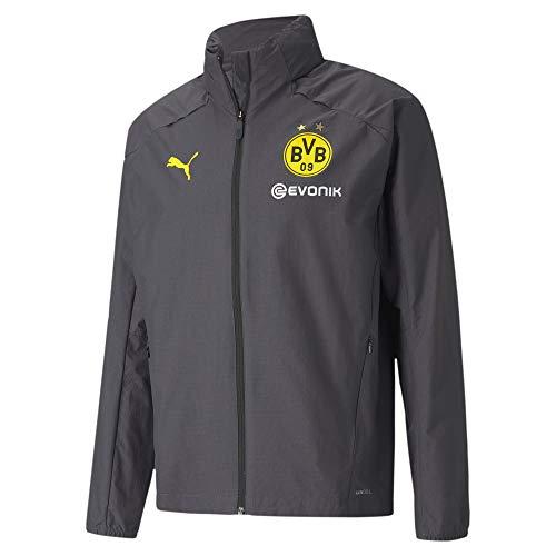 PUMA Borussia Dortmund Training Regenjacke Jacke (XL, Asphalt/Yellow)