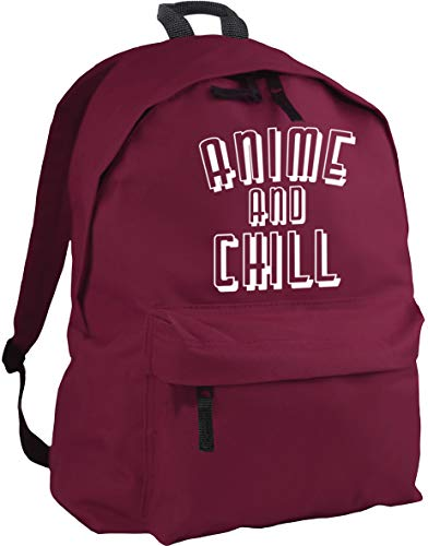 HippoWarehouse Anime and chill Backpack ruck Sack Dimensions: 31 x 42 x 21 cm Capacity: 18 litres