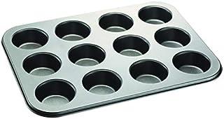 Blackstone Best Cupcake Baking Pan 12 Cup Non-Stick Muffin Tray Grey Cake Pan