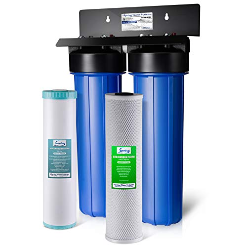 iSpring WGB22BM 2-Stage Whole House Water Filtration System with Big