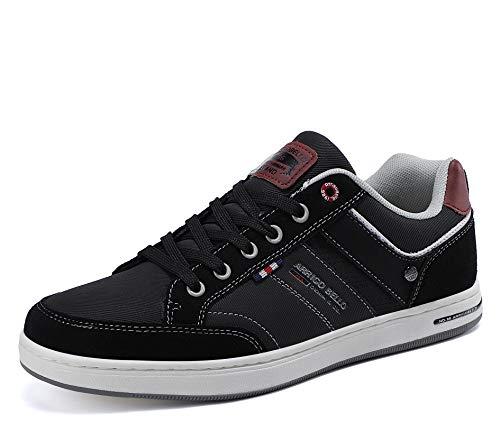 AX BOXING Sneakers Hombre Zapatos Casual Zapatillas Moda Ligero Deporte Gimnasio Running Tamaño 41-46 (Negro Grisáceo, Numeric_43)