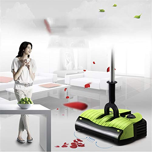 SHELLTB Leise Teppichkehrmaschine, Bodenkehrmaschine mit Rosshaarbürste Starke Reinigungskraft Hervorragend geeignet für Hausbüro-Küchenparkett,Yellow