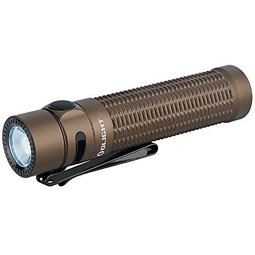 OLIGHT Warrior Mini EDC LED Taschenlampe 1500 Lumen 190 Reichtweit IPX8 Wiederaufladbar 5 Modi Taktische Taschenlampe für Outdoor Angeln Fahrrad Wandern Camping Kinder (Desert)
