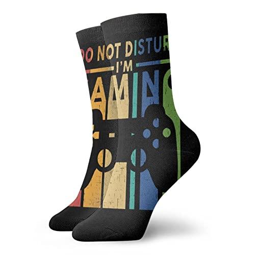 """Calcetines cortos para hombre y mujer, 30 cm, con texto en inglés """"Do Not Disturb I"""