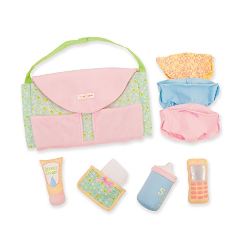 Manhattan Toy Baby Stella Darling Baby Doll Diaper Bag and Accessories for 15