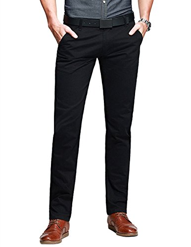 Perry Ellis mens Slim Fit Separate (Blazer, Pant, and Vest) Business Suit Pants Set, Solid Black Pant, 32W x 30L US