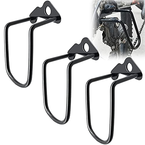 Desviador de la Bicicleta Protector, 3 piezas Protección Cambio Trasero, Protección Barra Bicicleta Hierro Desviador Trasero Anticolisión para Bicicleta Montaña, Bicicleta Cambio Marchas, Negro