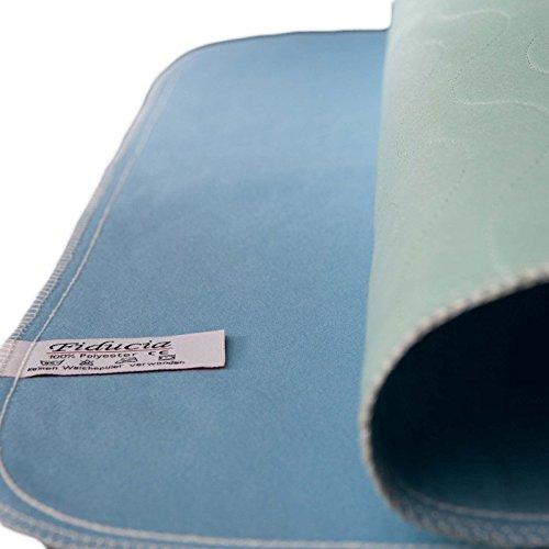 Fiducia 2er Pack Inkontinenzunterlage grün-blau o. blau-weiß ca. 90x75cm von Castejo waschbar Auflage Krankenunterlage Matratzenschutz CA3302/C (2)