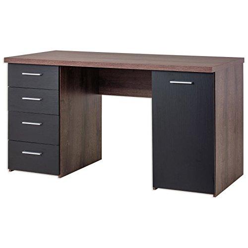 ROLLER Schreibtisch - Schlammeiche-Schwarzeiche - 145 cm breit