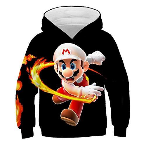 hhalibaba Junge Kleidung Hoodies Kinder Kleidung 3D Mario Print Jungen und Mädchen Hoodie Herbst Winter Outwear