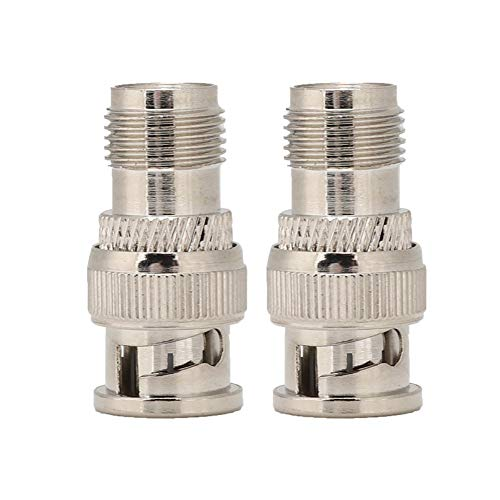 Adapter 2PCS BNC/TNC to JK Adapter Head Converter for Telecommunications Coaxial Cable LMR