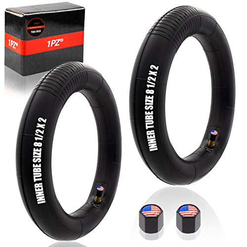 1PZ T85-X02 8.5-Inch Inner Tubes for Xiaomi M365 / Gotrax Electric Scooter Inflated Spare Tire 8 1/2 x 2 (2-Pack)