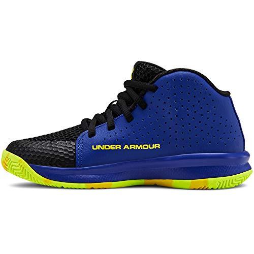 Under Armour Unisex-Youth Pre School 2019 Basketball Shoe, Royal (402)/Black, 13K