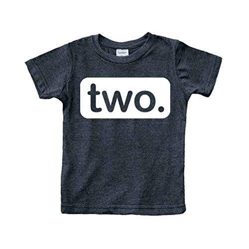 Unordinary Toddler 2nd Birthday Shirt (2y, Charcoal Black)