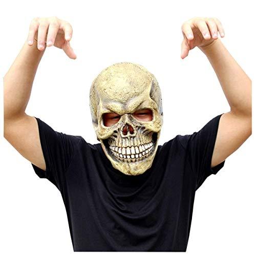 Máscara Mascarada Máscara de graduación Cráneo Máscara de Terror de Halloween Mueca de látex Divertidas Decoraciones de Abrigo de Fiesta - Negro Máscara Divertida Máscara de Demonio Demonio
