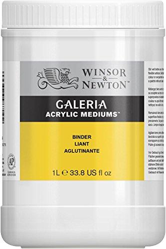 Winsor & Newton 3054823 Galeria Bindemittel, 1 Liter Topf, Kleber für Sand, Steine, Holz, und Kacheln