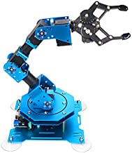 Robotic xArm 6DOF Full Metal Programmable Arm with Feedback of Servo Parameter, Wireless/Wired Mouse Control, Mobile Phone Programming