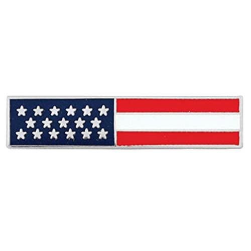 Police Officer Firefighter USA US American Flag Unifom Medal Pin Bar Silver f24a6b0905f