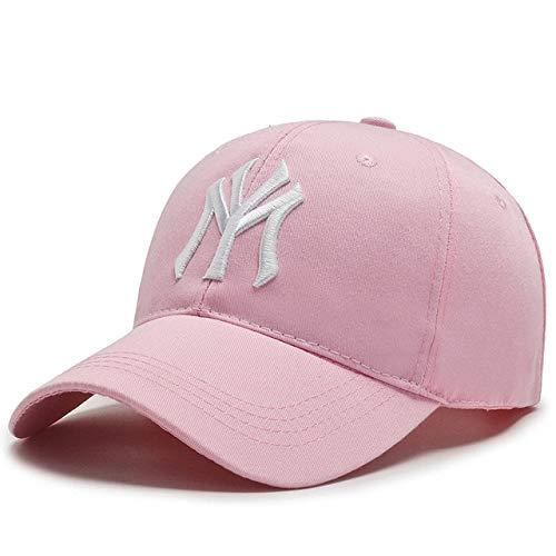 Nueva Gorra de béisbol algodón papá Sombrero Letra Snapback Verano Sol Moda Hip Hop-Pink