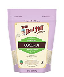 Bob's Red Mill Shredded Coconut, Unsweetened, 12 oz (Stand up Pouch)