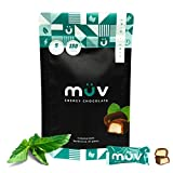 MUV Energy Chocolate Truffles - Mint Chocolate Truffles - Healthy Snacks for Adults - Caffeinated Chocolate Alternative - Caffeine Substitute - Energy Truffles - 30 Pack