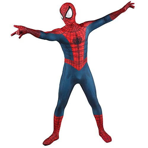 ZYZQ Spiderman Cosplay Costume Borde del Tiempo Classic Spider-Man Bodysuit Avenger Superhero Halloween Fantasía Vestido Prendas Unisex Adulto,Blue-Women~XL(165~170cm)