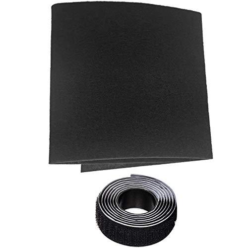 40 x 40 pulgadas filtro de registro de ventilación Kit de rejilla de ventilación cubierta de rejilla para HVAC, AC & calefacción Registros de admisión y rejillas, con tiras de velcro