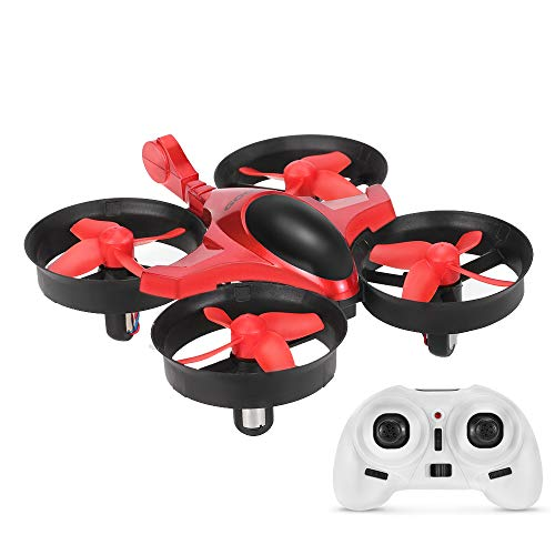 GoolRC Mini Quadrocopter Drohne, T36 Mini Quadrocopter Drone UFO 6-Axis Gyro Spielzeug Geschenk Kinder Anfänger (Rot)
