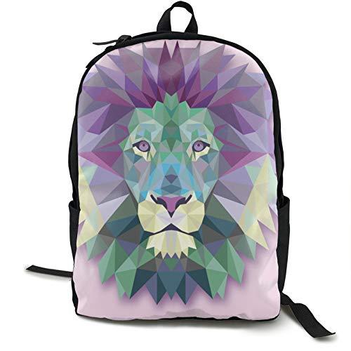 Lion Abstract Kids Backpack Lightweight School Bookbag Fashion Travel Daypack