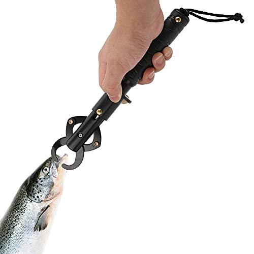 HERCHR Pinze da Pesca Bilancia da Pesca Measure 25Kg,Portatile Pinze da Pesca in Lega di Alluminio Bilancia per Pesci con Impugnatura Antiscivolo Cinturino Regolabile