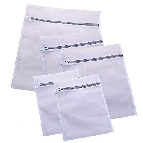 Bolsa de lavandería 3/5 piezas Bolsa de lavado de ropa Malla de red Camisas delicadas Calcetines Sujetador Ropa interior Ropa Bolsa de lavado Bolsas de lencería para lavandería (Color: Como se muestra