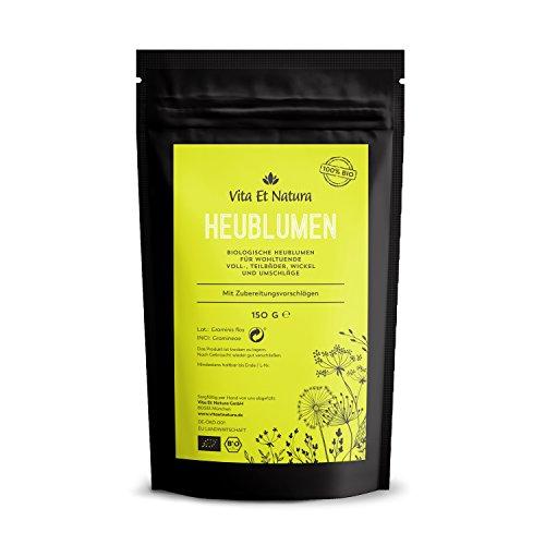 Vita Et Natura BIO Heublumen - 150 g biologische Heublumen für wohltuende Voll-, Teilbäder, Wickel und Umschläge - Auch zur Geburtvorbereitung - DE-ÖKO-001