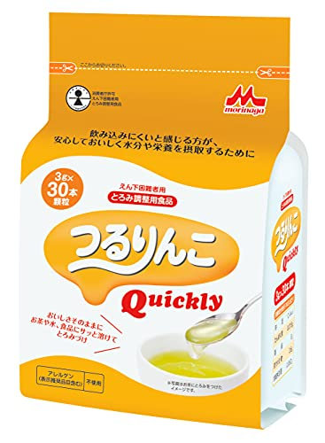 森永 つるりんこQuickly 3g×30本 [とろみ剤 とろみ調整食品] 1個