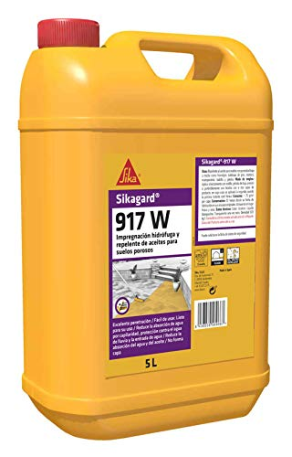 Sikagard-917 W, Impregnación hidrófuga y repelente de aceite, lista para su uso, para suelos porosos (adoquines, losas, piedras), 5L