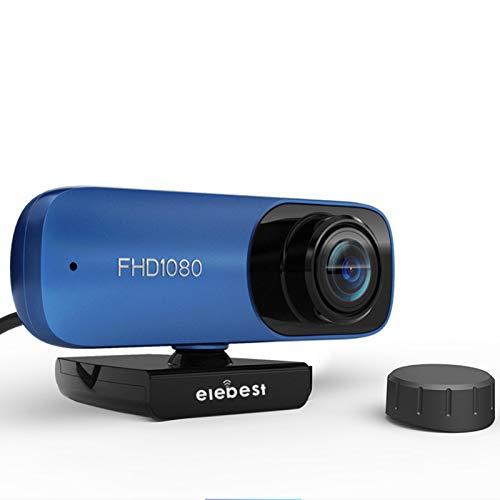 HXCH Cámara web de 1080P con micrófono, 8 millones de autofocus Web Cam cámara USB, cámara web de transmisión HD para PC videoconferencia/llamadas/juegos
