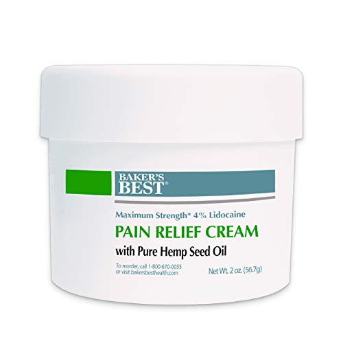 Baker's Best Arthritis Pain Relief Cream with Hemp Seed Oil | Contains 100% Pure Natural Hemp Seed Oil
