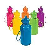 Fun Express Neon Sport Water Bottles (1 Dozen) Party Supplies, Drinkware, Incentives