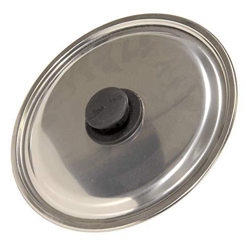 Errebi M61682 - Tapa acero inox pomo baquelita 26 cm